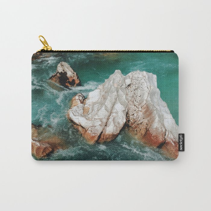 Sharp rock in river Carry-All Pouch