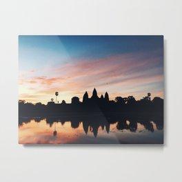 The Majestic Sunrise In Angkor Wat Metal Print
