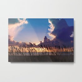 Sunrise over the Ocean Metal Print