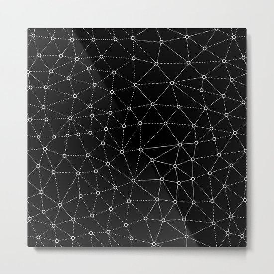 African Triangle Black Metal Print