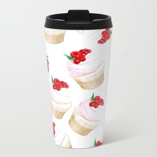Classic Cupcakes pattern Metal Travel Mug