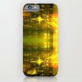 Solar Flare at the MyrGen Warehouse iPhone Case