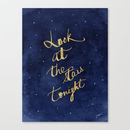 Starry Night Sky Art, Celestial Astronomy Stars Quote Art Print Poster, Celestial Nursery Decor Canvas Print