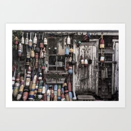 Fishing Shack Art Print