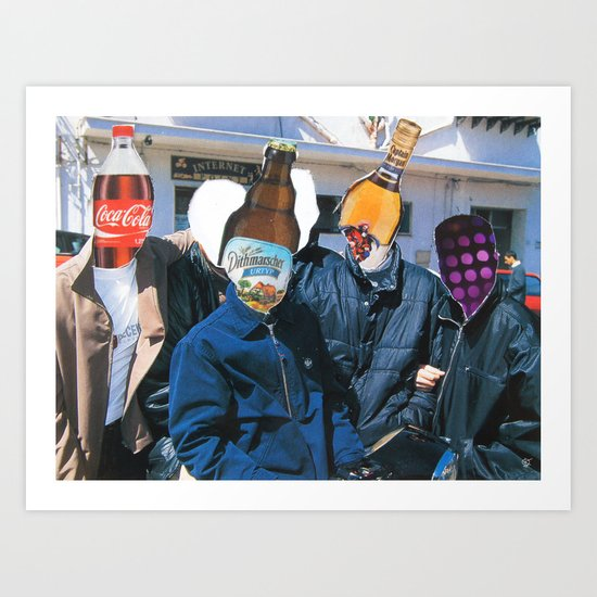 Meat Dream Party Land Series · The Boys Are Back In Town Art Print