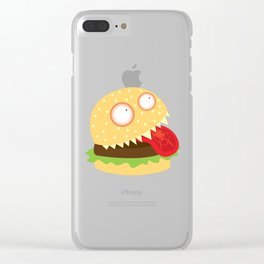 Monster Burger Clear iPhone Case