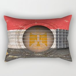 Old Vintage Acoustic Guitar with Egyptian Flag Rectangular Pillow