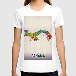Panama Map in Watercolor T-shirt