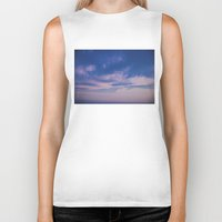 trippy Biker Tanks featuring Trippy Sky by Marie Carr