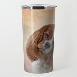 Drawing Dog Cavalier King Charles Spaniel Travel Mug