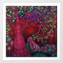 Valentine Tree Art Print