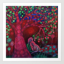 Valentine Tree Art Print