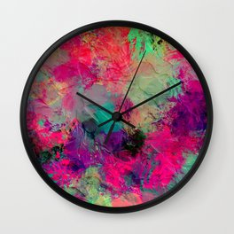 Plastered Memories 4 (Blacklightesque) Wall Clock