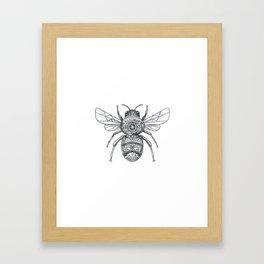 Bumble Bee Mandala Tattoo Framed Art Print