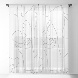 Smile Lines Sheer Curtain