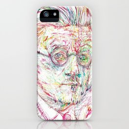JAMES JOYCE portrait iPhone Case