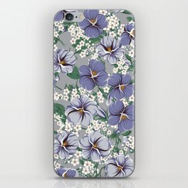 seamless pattern with viola flowers iPhone Skin