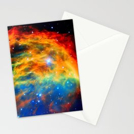 Rainbow Medusa Nebula Stationery Cards