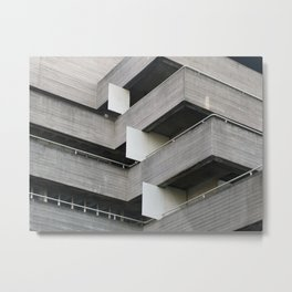 brutalist angles - national theatre london Metal Print