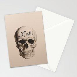 IDFWU Skull Stationery Cards