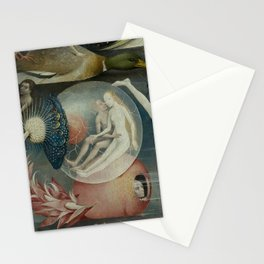 Lovers in a bubble - Hieronymus Bosch Stationery Cards
