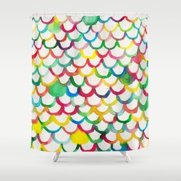 COLOR SCALES Shower Curtain