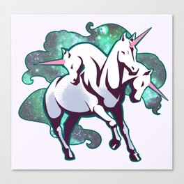 3 Headed unicorn Canvas Print