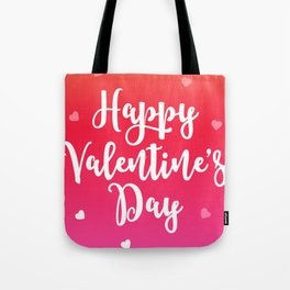 Happy Valentine's Day Hearts Tote Bag
