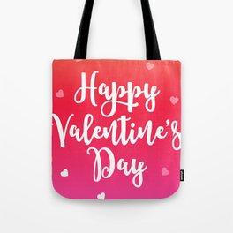 Happy Valentine's Day Hearts Tote Bag