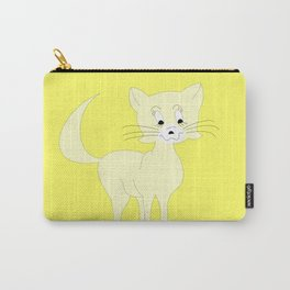 Yellow Pretty Puss Carry-All Pouch