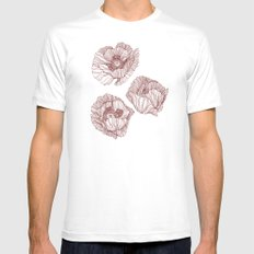 Poppies Mens Fitted Tee White MEDIUM