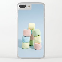 tower of rainbow marshmallow Clear iPhone Case