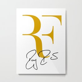 RF Logo Roger Federer Perfect Tennis Metal Print