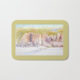 Porthcurno cliffs Bath Mat