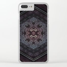 Metal Hex Clear iPhone Case