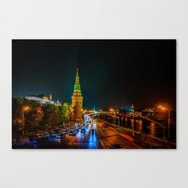 Moscow Kremlin At Night Canvas Print