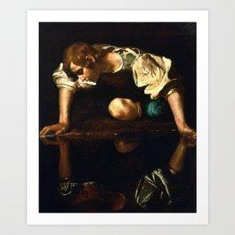 Narcissus By Caravaggio Art Print