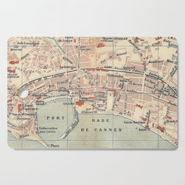 Vintage Map of Cannes France (1921) Cutting Board