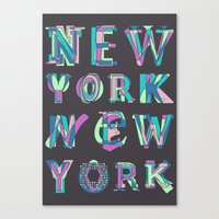 nyc Canvas Prints featuring NYC by Fimbis
