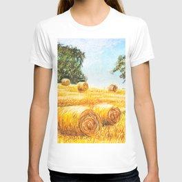 Prairie Landscape - Farm Art T-shirt