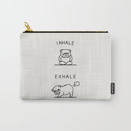 Inhale Exhale English Bulldog Carry-All Pouch