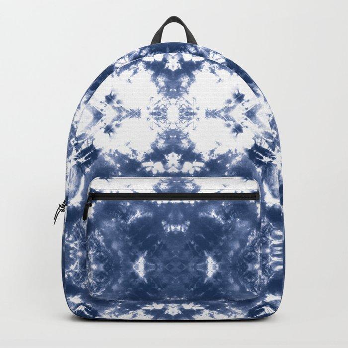 Shibori Tie Dye Indigo Blue Backpack