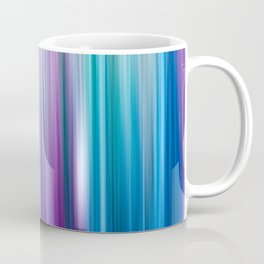 Abstract Purple and Teal Gradient Stripes Pattern Coffee Mug