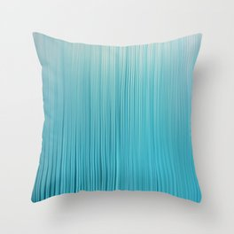 Abstract Modern Teal Ivory Gradient Brushstrokes Throw Pillow