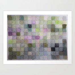 Watercolour Pixels Art Print