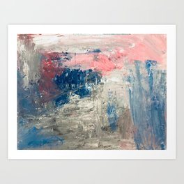 Abstract in Grey Art Print