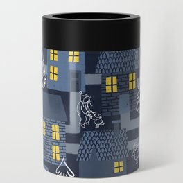 Houses and Christmas Can Cooler