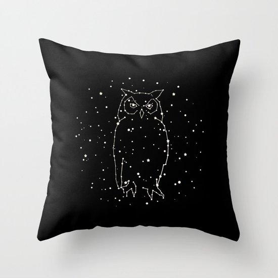 Owl Constellation Throw Pillow