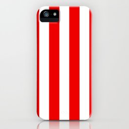 Holidaze Stripe Red White Vertical iPhone Case