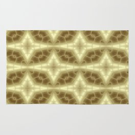 Abstract Gold Pattern Rug